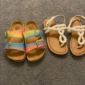 Two Pairs Girls Sandals